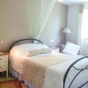 Gone Fishins large bedroom overlooking your lake and grounds here at Gone Fishin Aiguillon