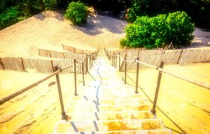 Steps to the Grande  Dune du Pilat